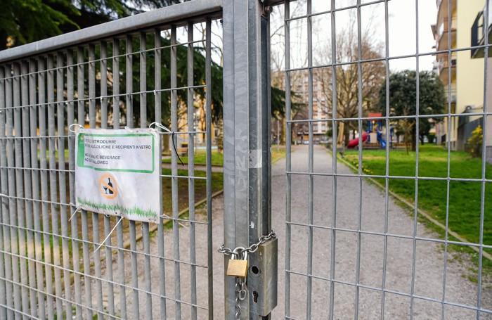 Como via Anzani, parchi cittadini chiusi per decreto coronavirus