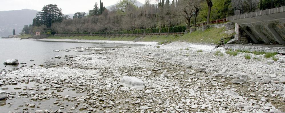 Lago più basso di 20 centimetri  Ma arrivano pioggia e neve