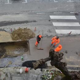 Un'altra perdita nella rete idrica  A Ronago l'acqua a singhiozzo