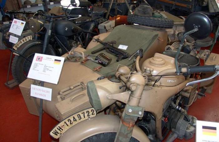 Un sidecar in uso all'esercito tedesco nella Seconda guerra mondiale
