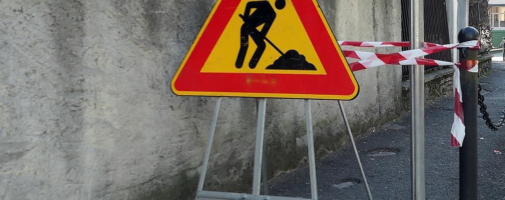 Telenovela marciapiedi a Erba  Un'altra azienda finirà i lavori