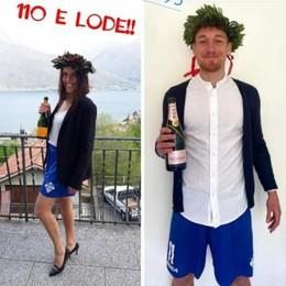 Como, Gabrielloni fa tendenza Laurea con i pantaloncini azzurri