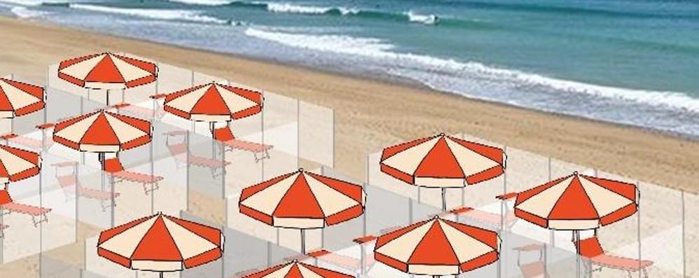 Coronavirus, le imprese  Plexiglass per le spiagge?  Meglio i teli hi-tech