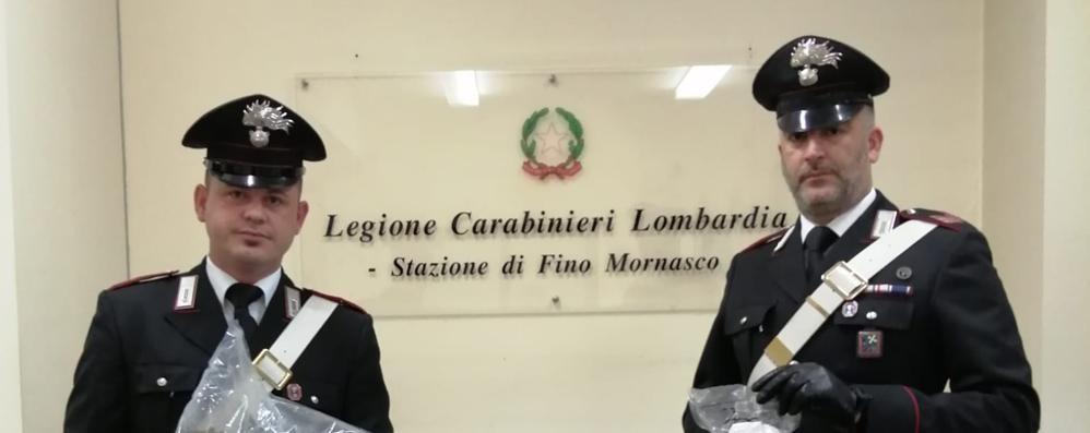Fino Mornasco, quasi due chili di droga  I carabinieri arrestano giovane di 28 anni