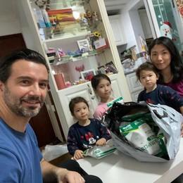 Fabio, dalla Cina con amore «Per la mia Como 8500 mascherine»