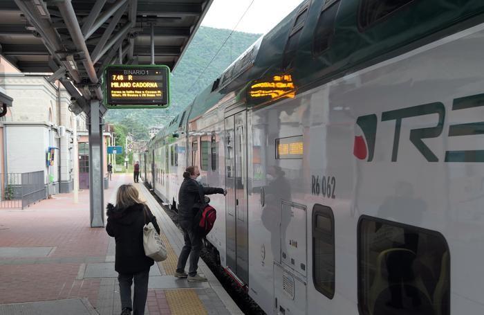 Anche sul treno delle 7,46 da Erba  pochissimi pendolari