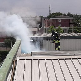 Pannelli fotovoltaici in fiamme  Mobilitazione a Guanzate