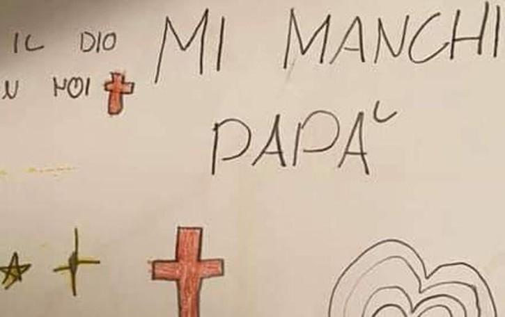 L'operaio morto nel cantiere a Lugano Il disegno della figlia: «Mi manchi papà»