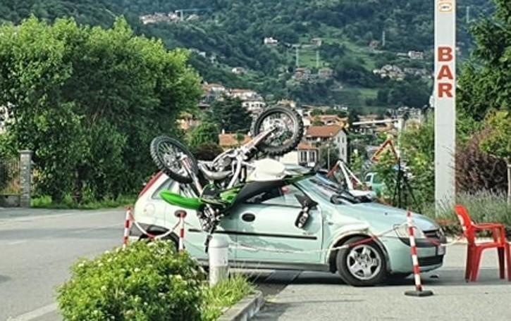 Dongo, mancata precedenza sulla Regina Paura per ragazzo di 17 anni in moto