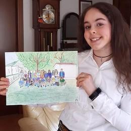 """Asso, Beatrice disegna i compagni  La """"foto"""" di classe ai tempi del coronavirus"""