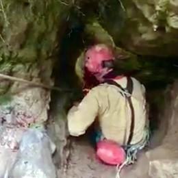 Sormano, fine dei timori  Usciti tutti gli speleologi