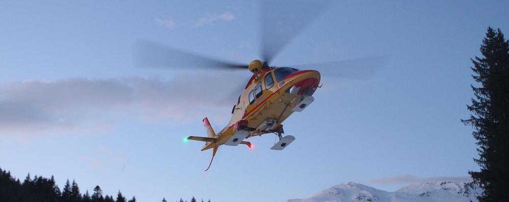 Volo di venti metri in montagna    Grave alpinista di Cantù