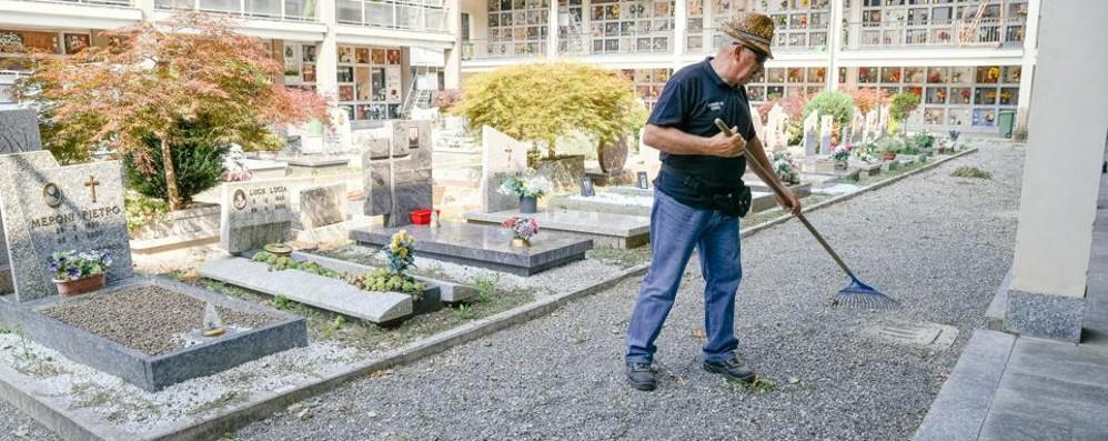 """Como, cimiteri: la """"svolta""""  contro il degrado? In tre con i rastrelli"""