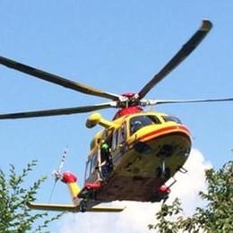 """Lanzo, ragazzo cade e picchia la testa  Arriva l'elicottero in """"codice rosso"""""""