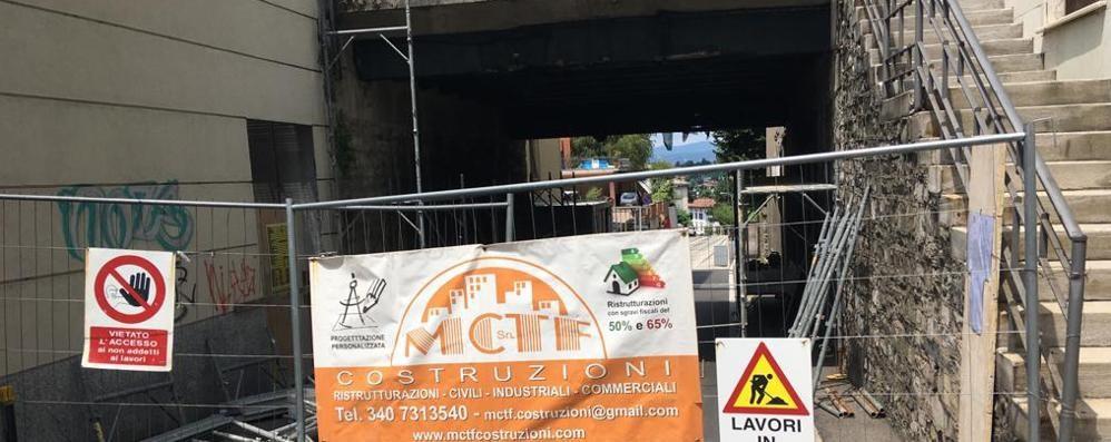 Lavori per il ponte a Cantù  Chiude corso Unità d'Italia