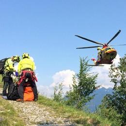 San Fedele, cade escursionista  Intervento dell'elisoccorso sul Generoso