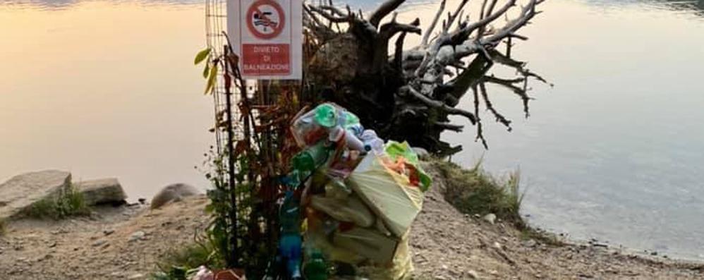 Lago Montorfano  Assalto alle spiagge  ma restano i rifiuti