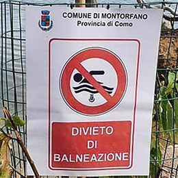 Montorfano, balneazione libera  Il sindaco toglie i cartelli di divieto
