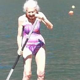 Porlezza: nonna Savina   sulla tavola a 95 anni