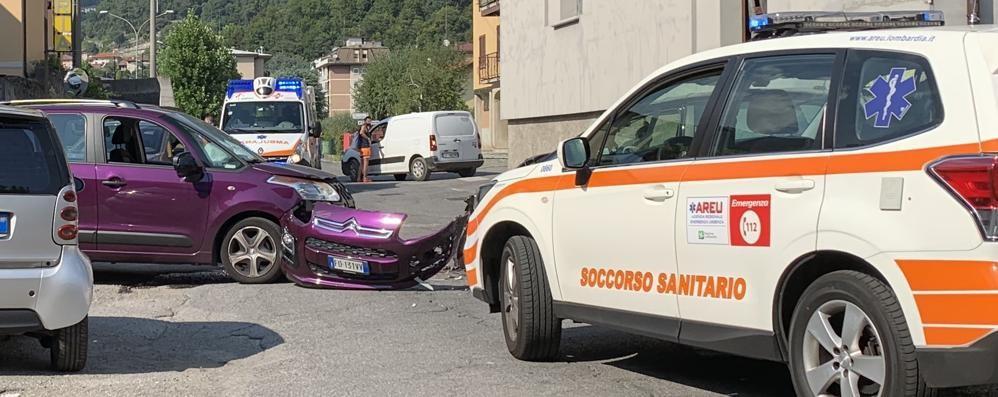 Frontale a Ponte Lambro Due persone ferite