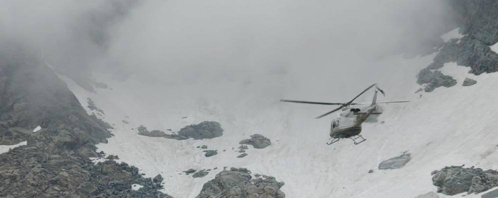 Cabiate, cade sul ghiacciaio   Paura per un alpinista
