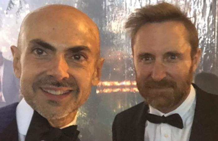 Enzo Miccio con il dj David GuettaInstagram