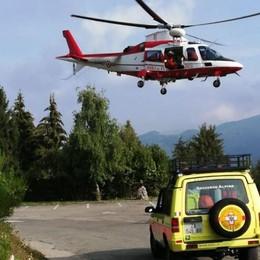 Lanzo, escursionista cade alla Sighignola  Individuata dopo tre ore di ricerche