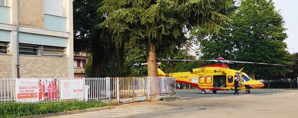 Ragazzino cade in bicicletta  In ospedale con elicottero
