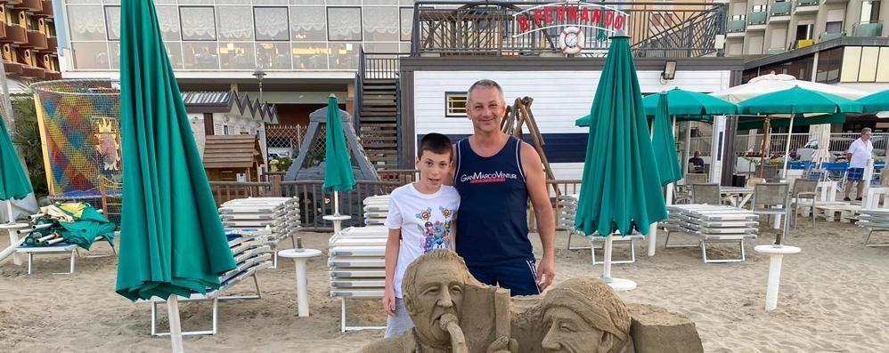 Schignano,  Van De Sfroos e il Cimino  nella scultura di sabbia a Gatteo Mare