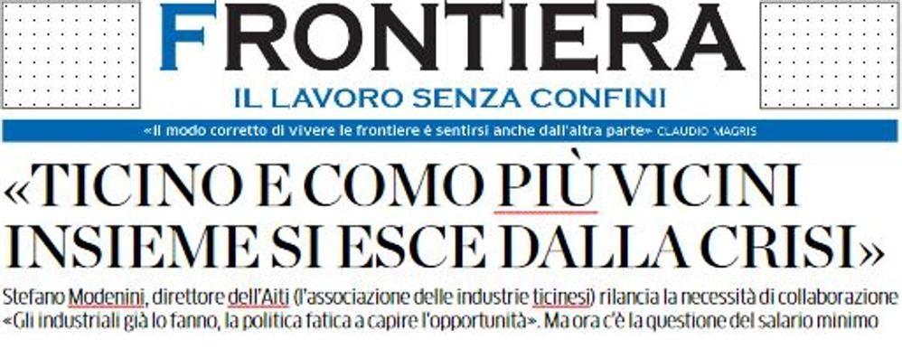 """Nuovo regalo ai lettori  L'inserto """"Frontiera"""""""