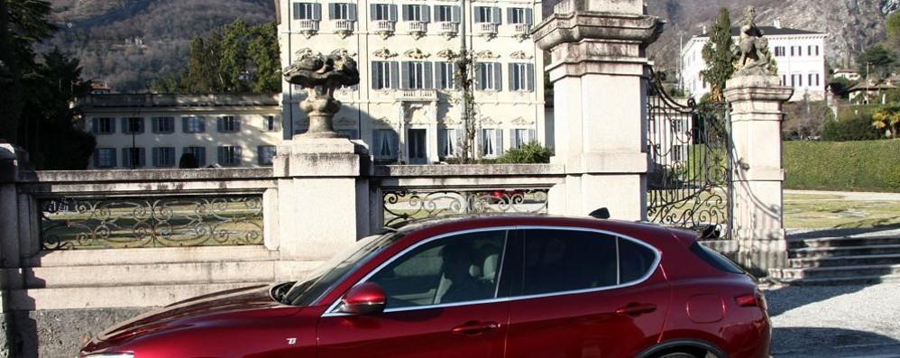 Tremezzina, spot dell'Alfa Romeo  Le riprese tra lago e statale Regina