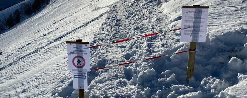 San Primo pericoloso  Chiuso il sentiero