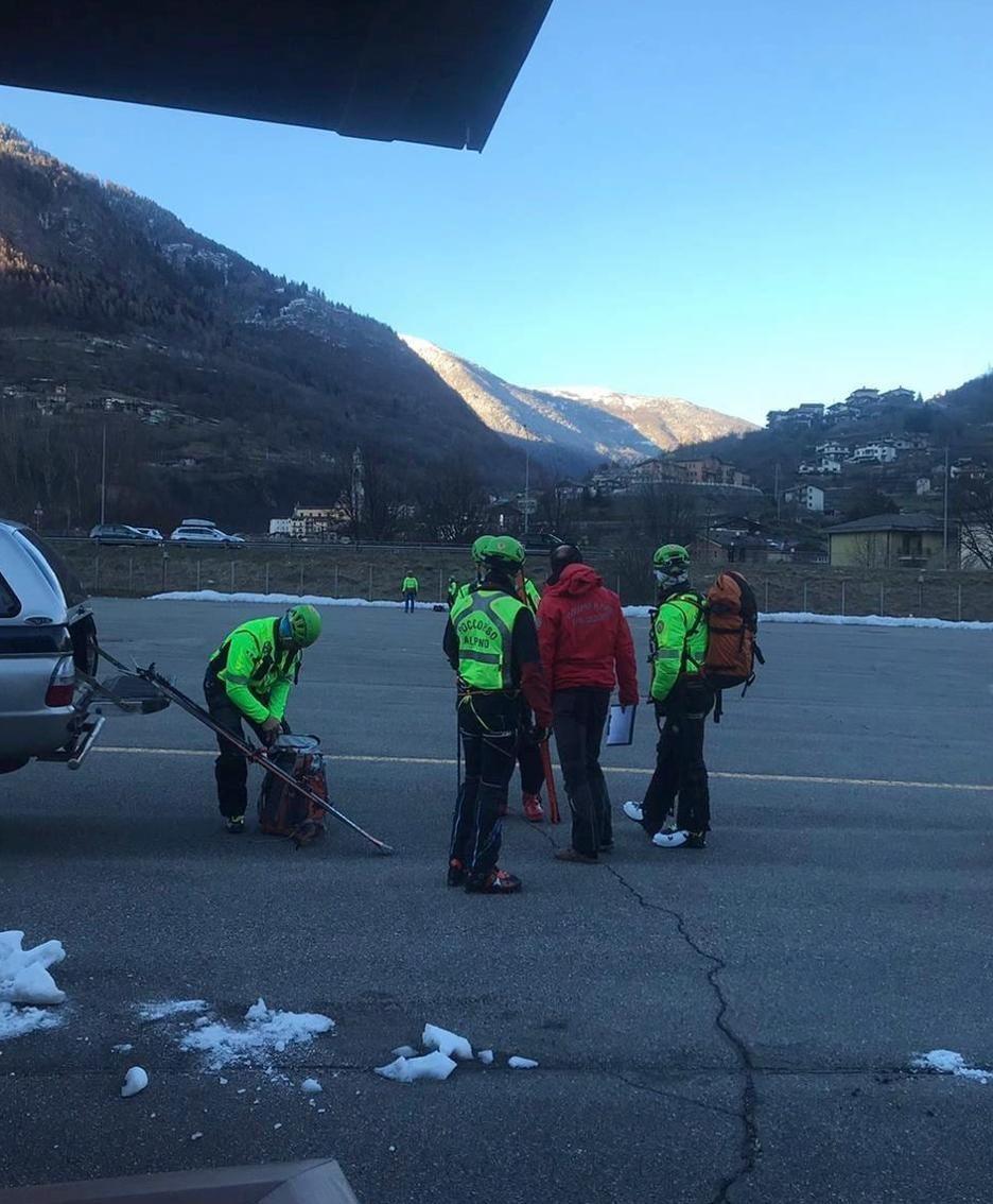 I soccorritori a valle