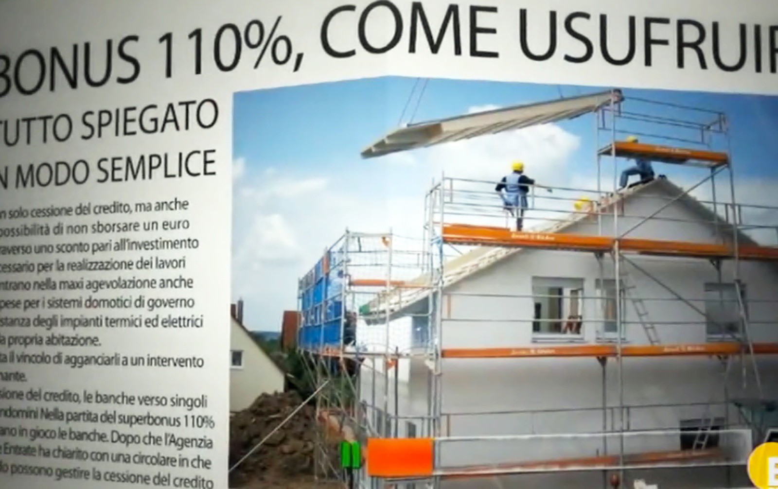 Bonus 110%: gli abusi edilizi bloccano lavori e rimborso. Questa sera in Tv come evitare di perdere la maxi detrazione