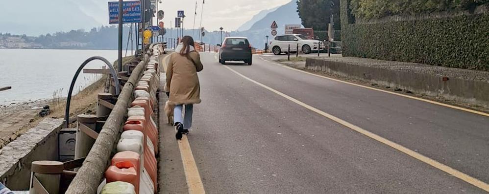 Griante, Anas toglie il semaforo  Ma con i new jersey pedoni a rischio