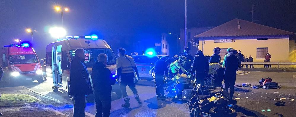 Incidente sulla Vallassina  Un ferito gravissimo a Monguzzo