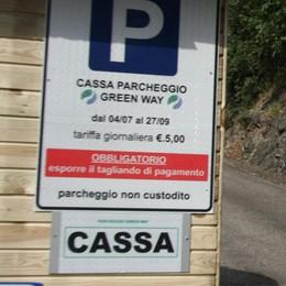 Colonno svolta sulla Greenway  Parcheggi sempre a pagamento