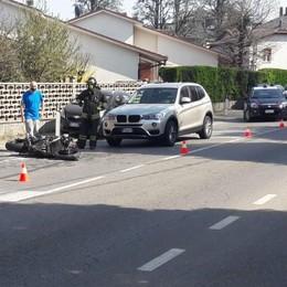 Lomazzo, scontro con un'auto  Grave motociclista di 31 anni
