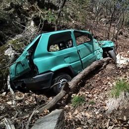 Val Cavargna, auto nel dirupo  Morto sul colpo uomo di 68 anni