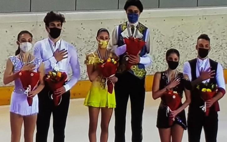 Valesi&Clerici, coppia d'argento Che podio al Tricolore junior