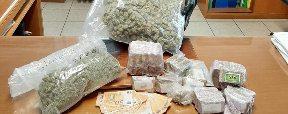 Fermato con 4 chili di droga  destinata al mercato comasco