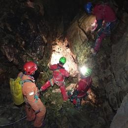 Albavilla, ferito  a 150 metri di profondità  Ma è una esercitazione nella grotta Zorro