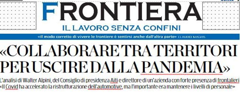 """Ticino: più lavoratori comaschi  Se ne parla in """"Frontiera"""""""