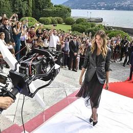"""Lago di Como """"wow""""  Noel Berry a Villa Erba  nello spot di Trussardi"""