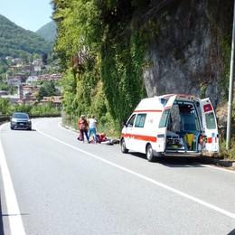 Argegno, cade da 10 metri sulla Regina  Turista tedesca soccorsa con l'elicottero
