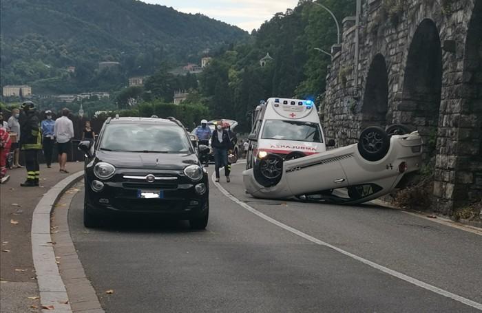 Como. Incidente via per Cernobbio, Villa Flori