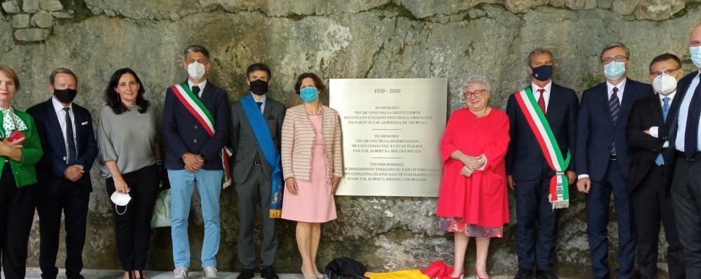 Cent'anni italiana:  la cerimonia  all'isola Comacina
