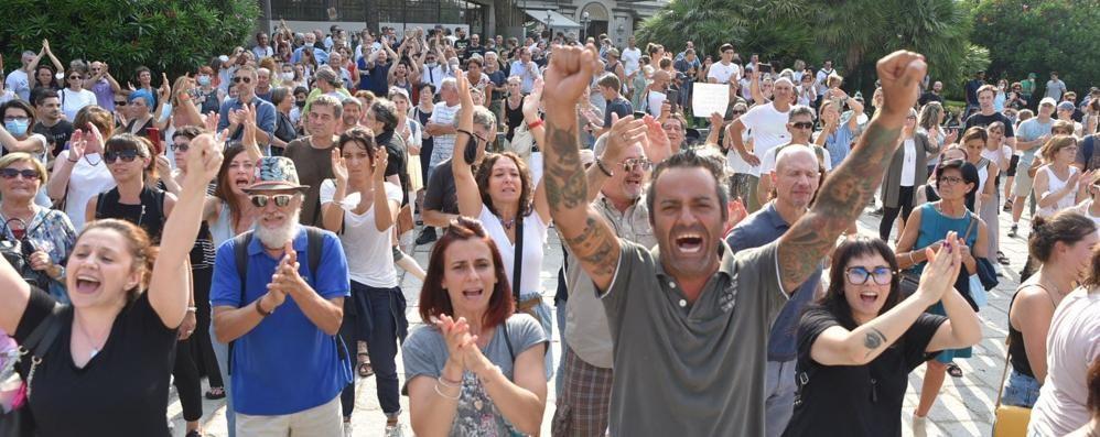No vax in piazza Cavour  Il presidio non è autorizzato