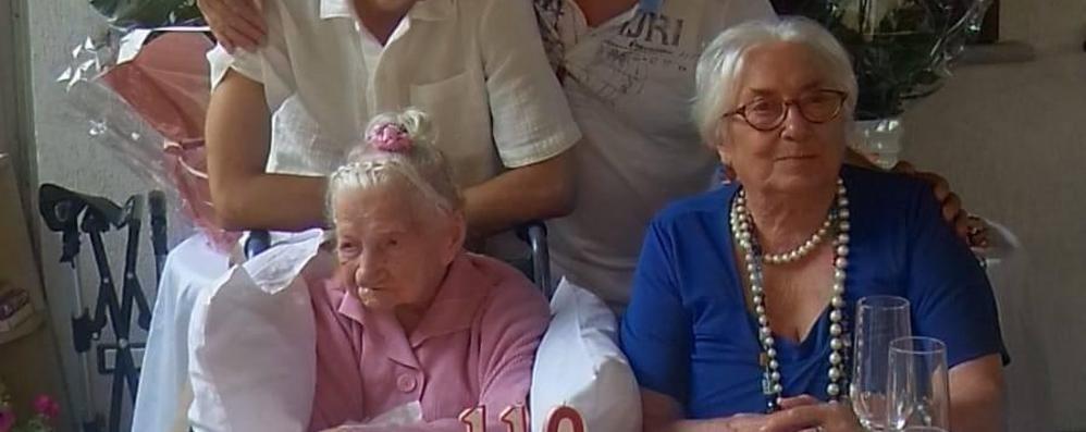 Più forte della pandemia  Capiago, nonna Dafne  festeggia i suoi 110 anni