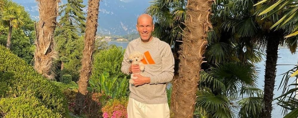 Tremezzina, c'è Zidane in vacanza  Per dimenticare il Real Madrid